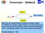 termocouple seebeck