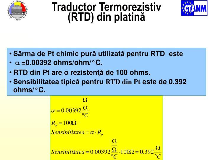 Traductor Termorezistiv (RTD)
