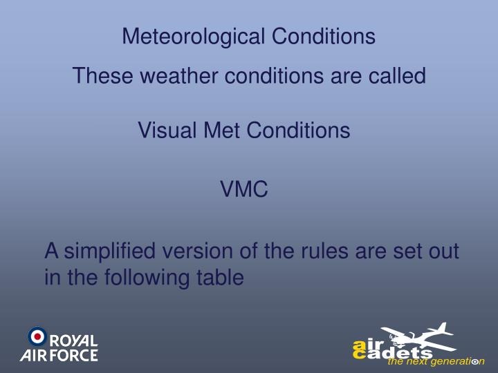 Meteorological Conditions