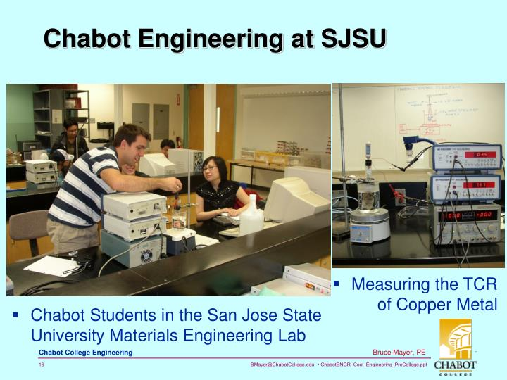Chabot Engineering at SJSU