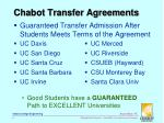 chabot transfer agreements