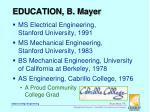 education b mayer