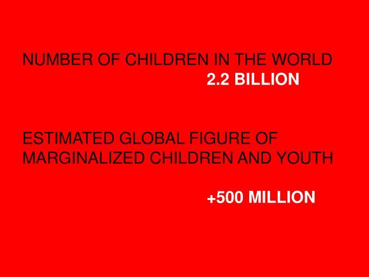 NUMBER OF CHILDREN IN THE WORLD