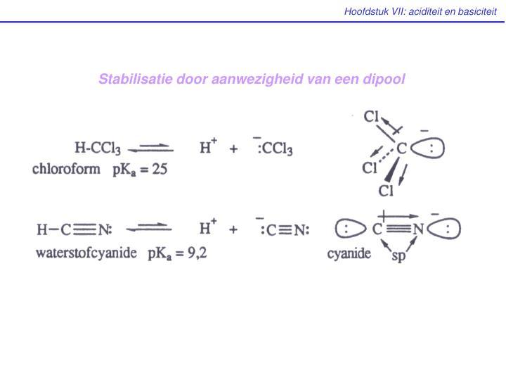 Stabilisatie door aanwezigheid van een dipool