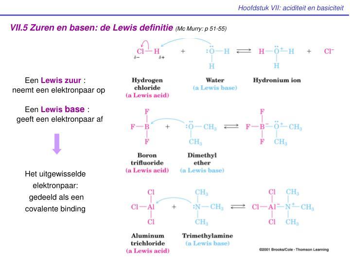VII.5 Zuren en basen: de Lewis definitie