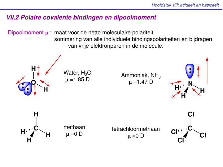 VII.2 Polaire covalente bindingen en dipoolmoment