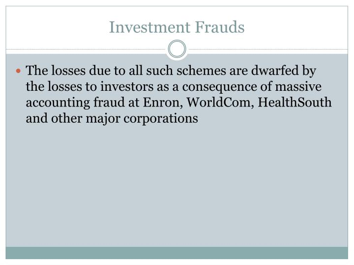 Investment Frauds