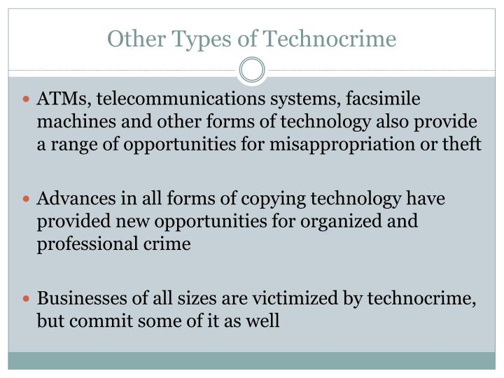 Other Types of Technocrime