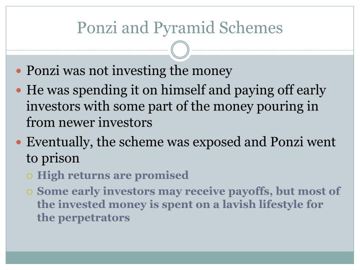 Ponzi and Pyramid Schemes