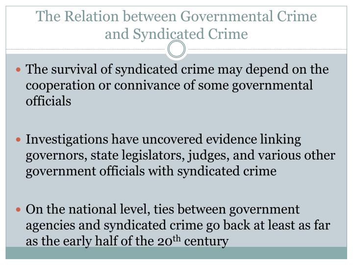 The Relation between Governmental Crime
