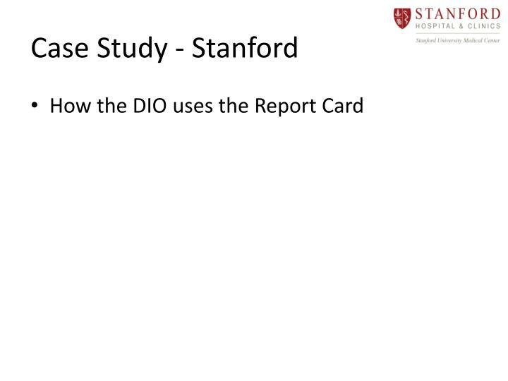 Case Study - Stanford