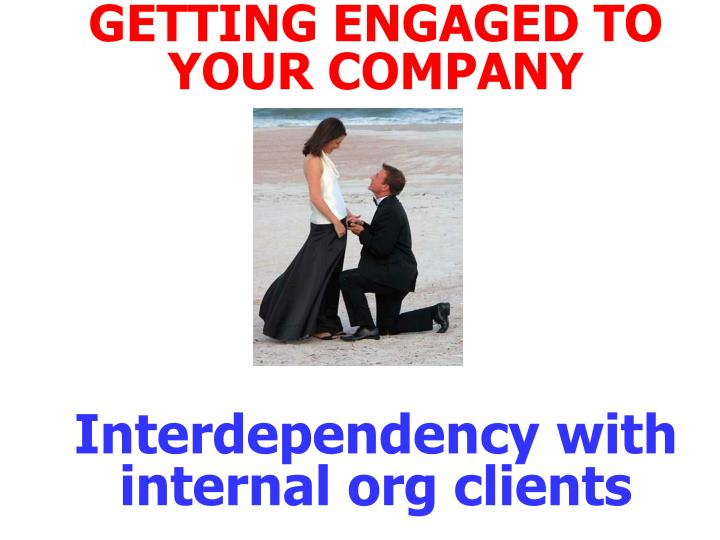 GETTING ENGAGED TO YOUR COMPANY