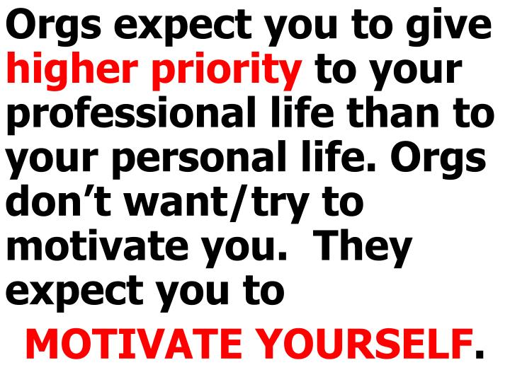 Orgs expect you to give