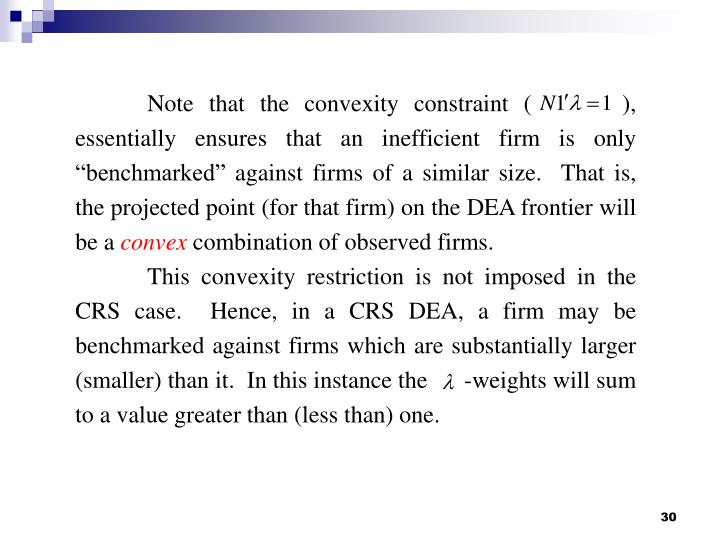 Note that the convexity constraint (