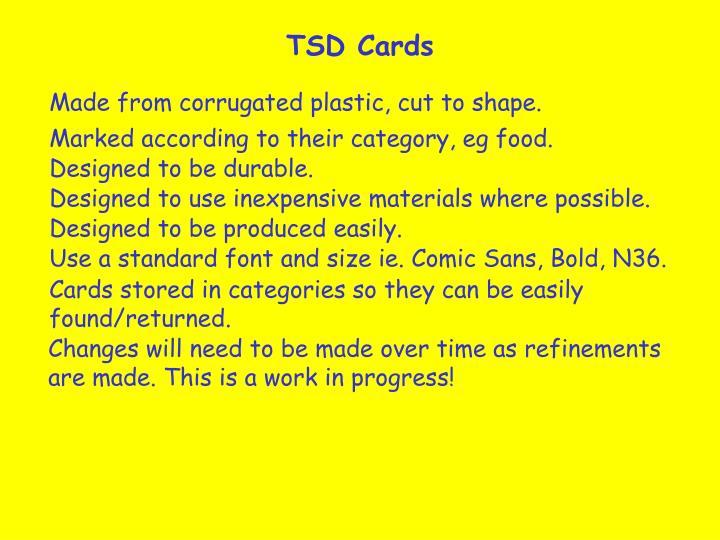 TSD Cards