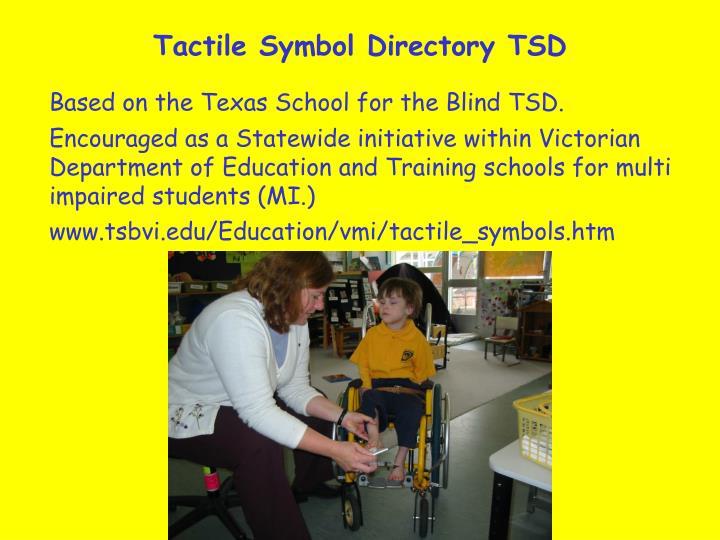 Tactile Symbol Directory TSD
