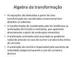 algebra da transforma o