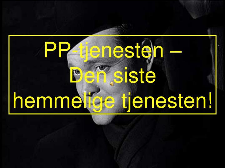 PP-tjenesten –
