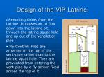 design of the vip latrine