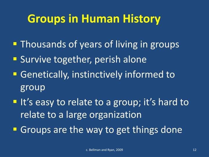 Groups in Human History