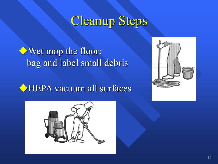Cleanup Steps