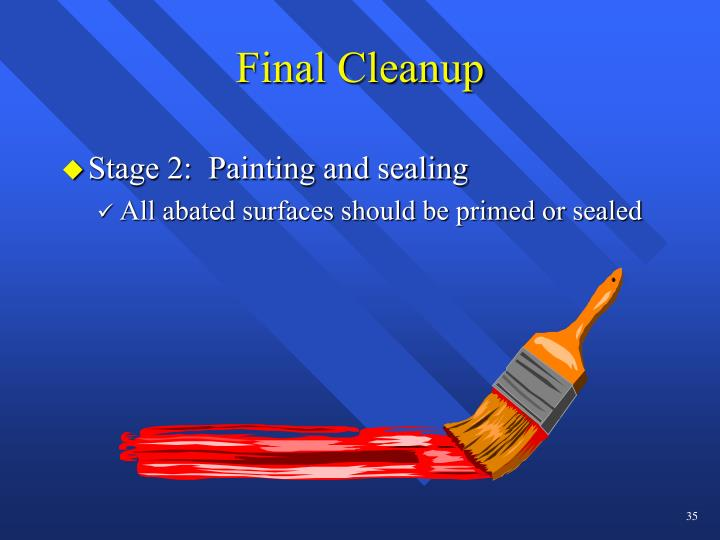 Final Cleanup
