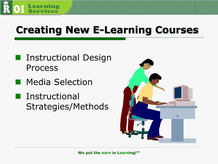 Creating New E-Learning Courses