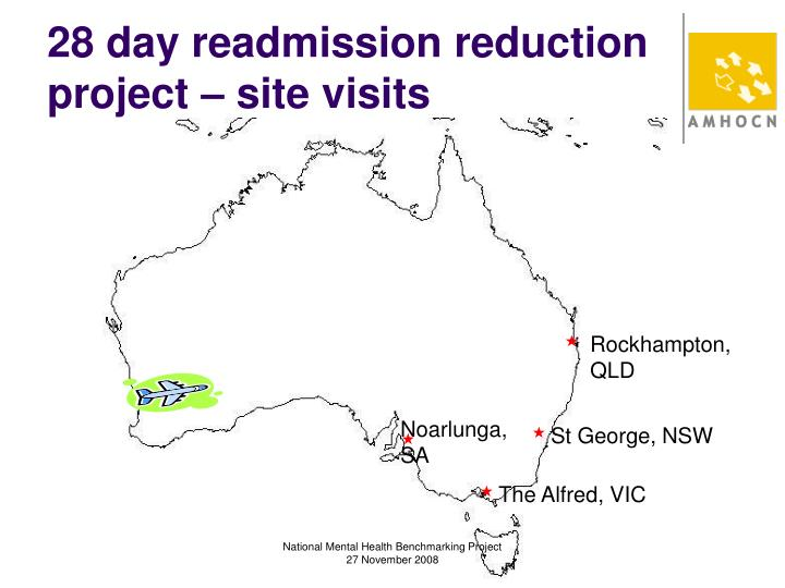 28 day readmission reduction project – site visits