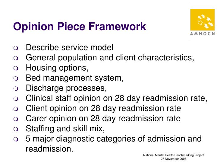 Opinion Piece Framework