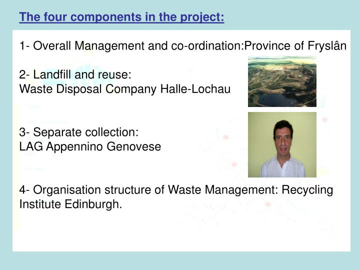The four components in the project: