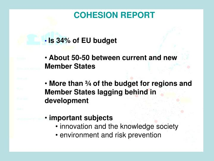 COHESION REPORT