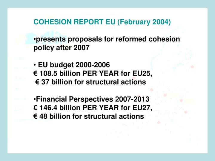 COHESION REPORT EU (