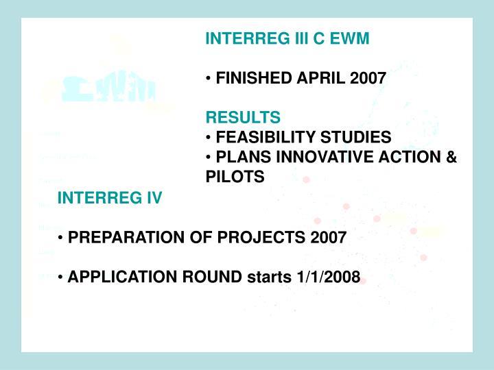 INTERREG III C EWM