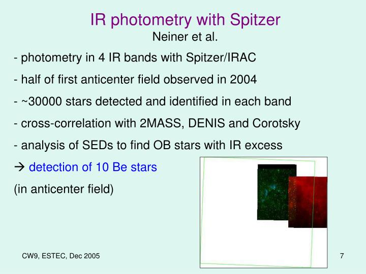 IR photometry with Spitzer
