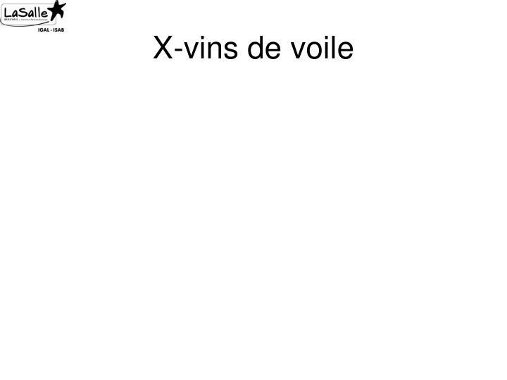 X-vins de voile