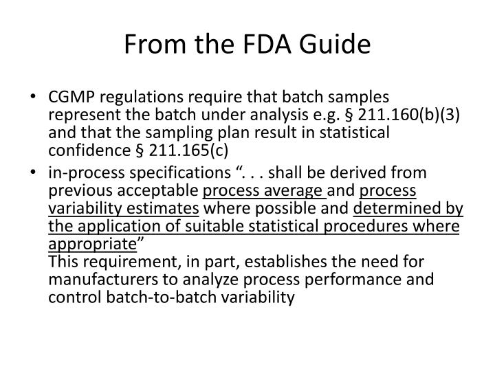 From the FDA Guide