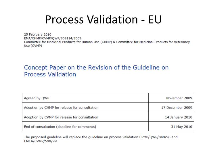 Process Validation - EU