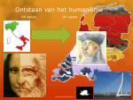 ontstaan van het humanisme