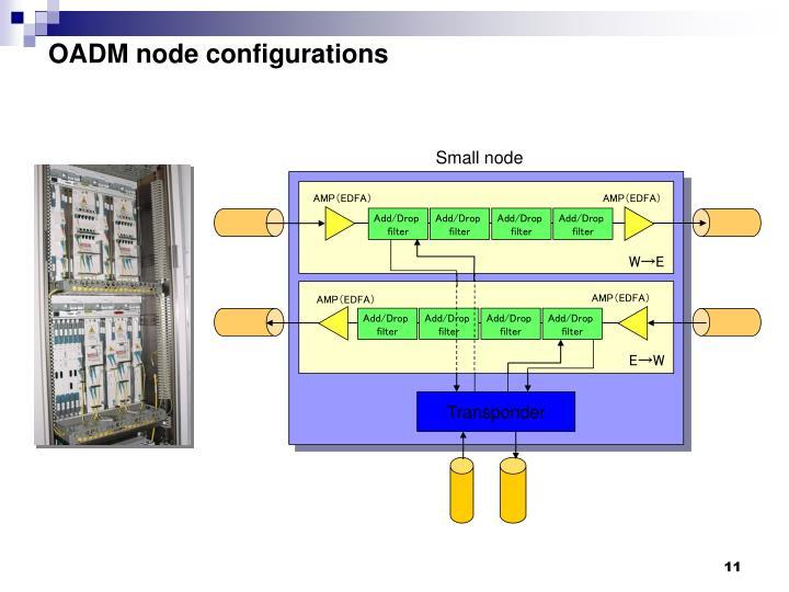OADM node configurations