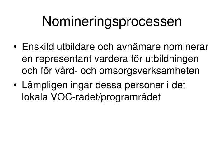 Nomineringsprocessen