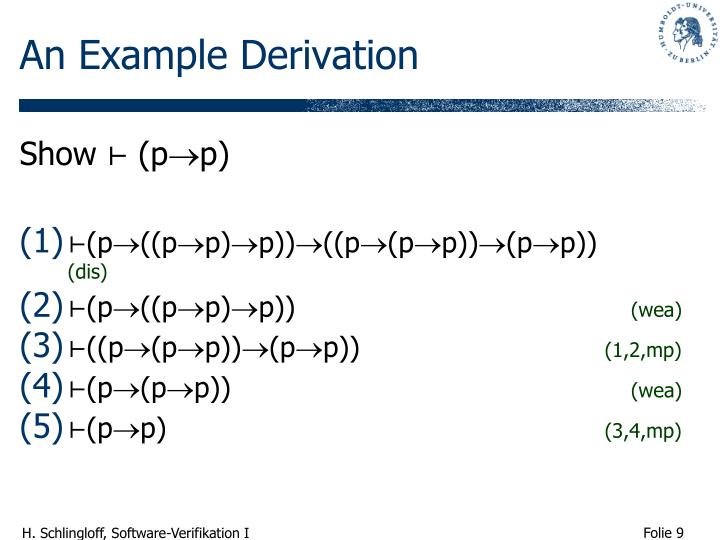An Example Derivation