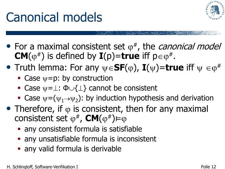 Canonical models