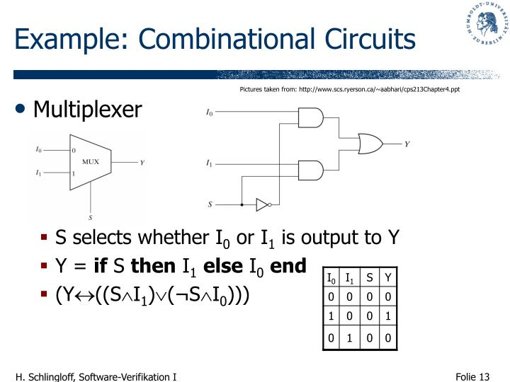 Example: Combinational Circuits