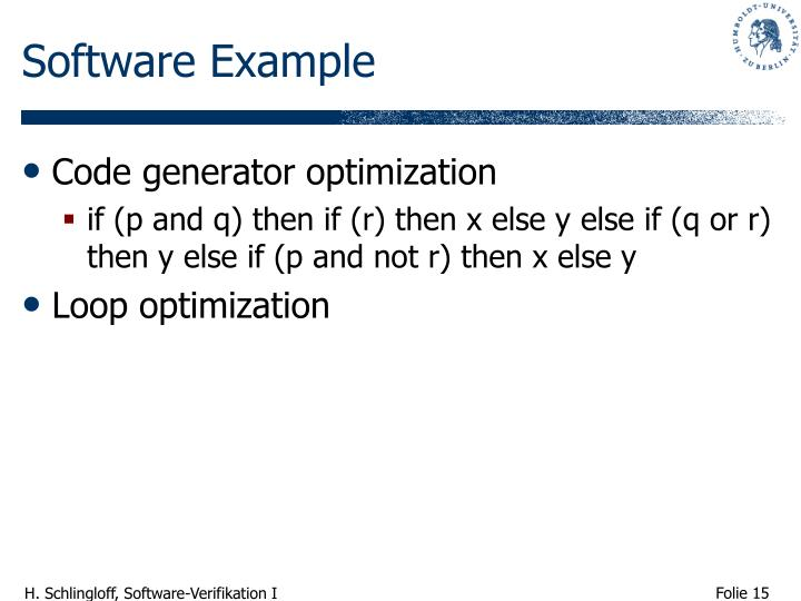 Software Example