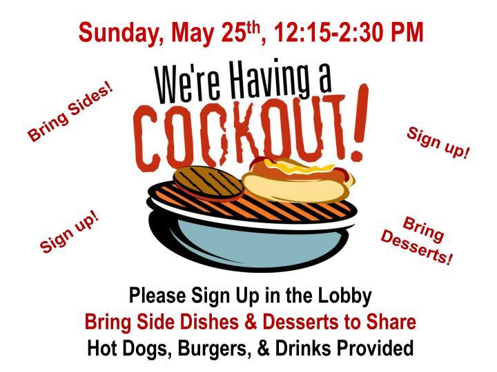 Sunday, May 25