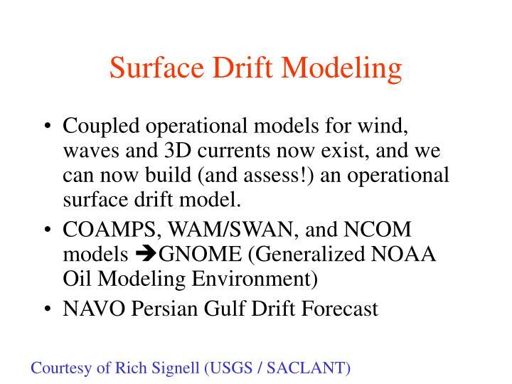 Surface Drift Modeling