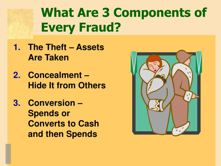 What Are 3 Components of Every Fraud?