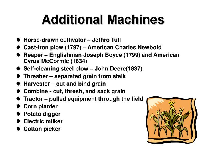 Additional Machines