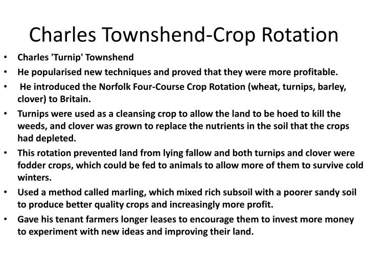 Charles Townshend-Crop Rotation