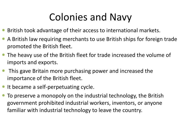 Colonies and Navy